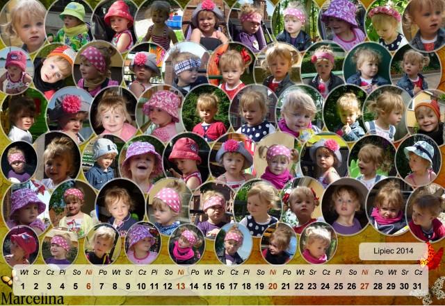 Marcelina - kalendarz lipiec 2014